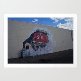 Southern Pacific Mural in Lodi, CA Art Print