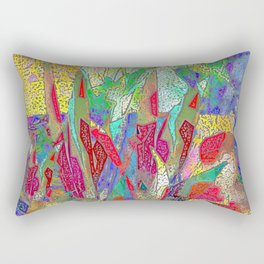 Summer In The Meadow Abstract Botanical Rectangular Pillow
