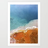 Hot springs Art Print