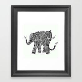 Snakelephant Indian Ink Hand Draw Framed Art Print