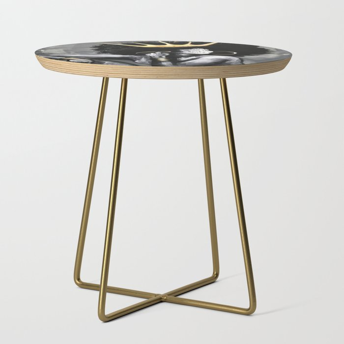 Naturally_Queen_VI_Side_Table_by_DaCre8iveOne__Gold__Round