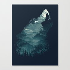 Hungry Wolf Canvas Print