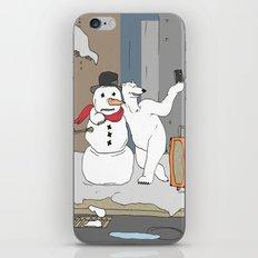 Selfie - Polar Bear and Snowman iPhone & iPod Skin
