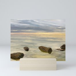 Sea sunset during calm weather Mini Art Print