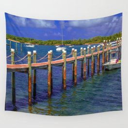 Boat Ramp To Paradise Wall Tapestry