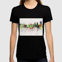 Zurich skyline in watercolor background T-shirt