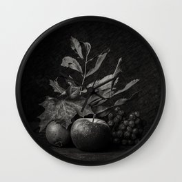 Still life autumn Wall Clock