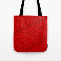 video game Tote Bags featuring Video Game Controllers - Red by C.Rhodes Design