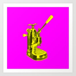 Pop Art La Pavoni Lever Espresso Machine No.1 Art Print