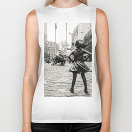 Fearless Girl & Bull - NYC Biker Tank