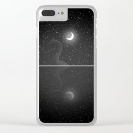 Nessie Starry Night - Loch Ness Monster Clear iPhone Case