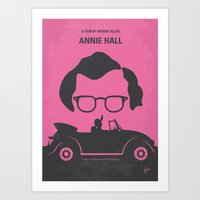 annie hall Art Prints featuring No147 My Annie Hall minimal movie poster by Chungkong