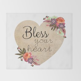 Bless Your Heart Throw Blanket