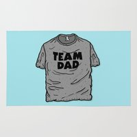 dad Area & Throw Rugs featuring Team Dad by Josh LaFayette