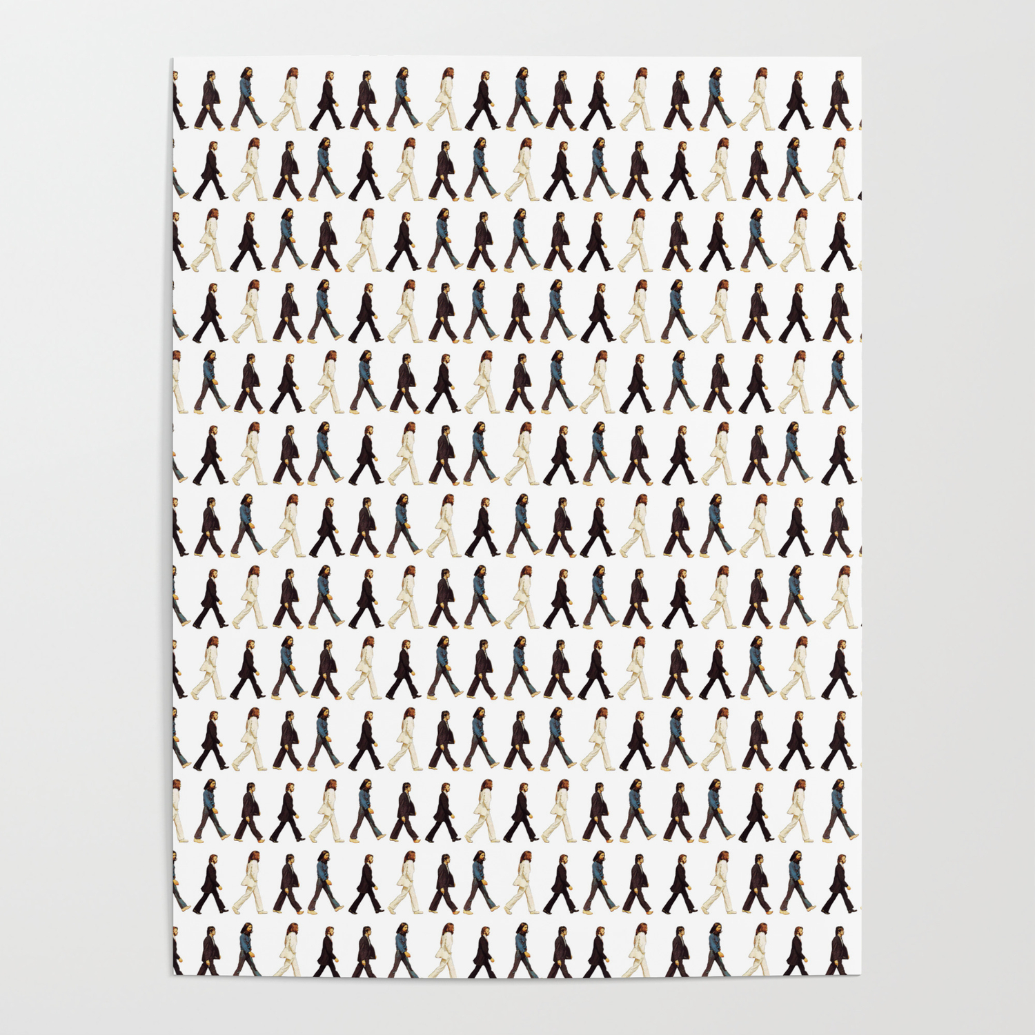 Pattern abbey road poster