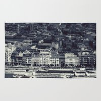 budapest hotel Area & Throw Rugs featuring Budapest by farsidian