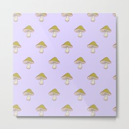 Capped Fellow pattern in lilac Metal Print