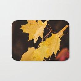 Yellow maple leaves Bath Mat