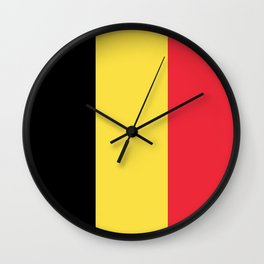 Flag of Belgium Wall Clock