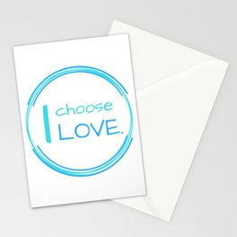 I choose LOVE Stationery Cards