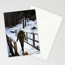 Through the bridge Stationery Cards