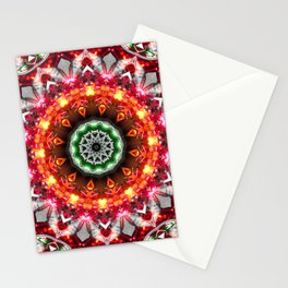 Christmas Snowflake Mandala Stationery Cards