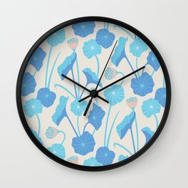 LOTUS POND Pattern Wall Clock