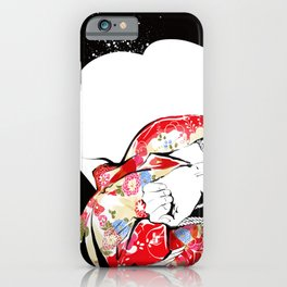 Woman wears a traditional kimono, Body tied by rope, Shibari, Japanese BDSM art, Fashion illusration iPhone Case