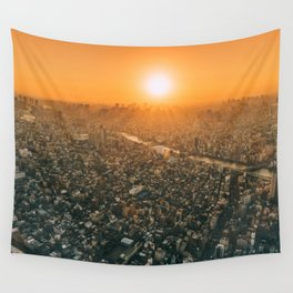 City and the sky Wall Tapestry