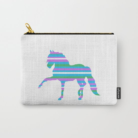 Horse Stripes Carry-All Pouch