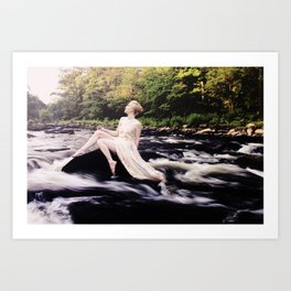 To Be One With the River Art Print