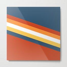Retro stripes vibes! Metal Print