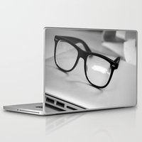 geek Laptop & iPad Skins featuring Geek by Zack Skeeters