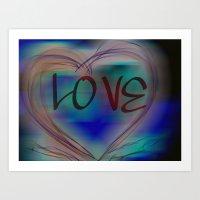 Love by artist MPL Art Print