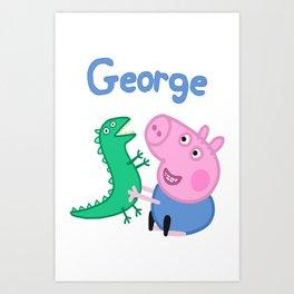 George Pig Art Print
