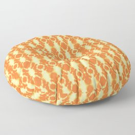 rotary tie-dye pattern in sunny yellows Floor Pillow
