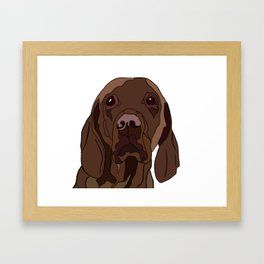 Ruby the Vizsla Framed Art Print