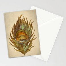 peacock feather-eye Stationery Cards