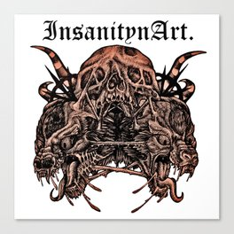 InsanitynArt's Death, As Beautiful as a Hole in the Head edited Illustration. Canvas Print