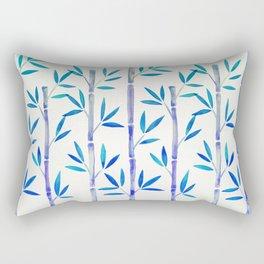 Bamboo Stems – Indigo Palette Rectangular Pillow