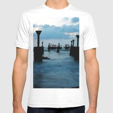Pillars by the sea Mens Fitted Tee White MEDIUM