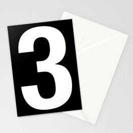 Lucky number: 3 Stationery Cards