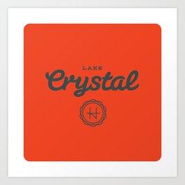 Lake Crystal Art Print
