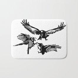 Crow Parliament Bath Mat