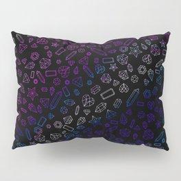 Holographic Gems Pattern Black Pillow Sham