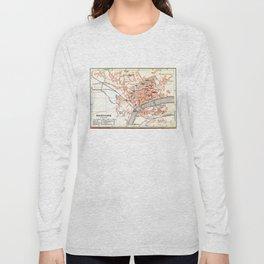 Vintage Map of Solothurn Switzerland (1913) Long Sleeve T-shirt