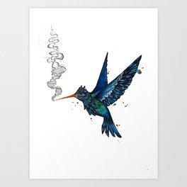 Smoke Nectar Art Print