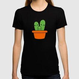Cute cactus in orange pot T-shirt