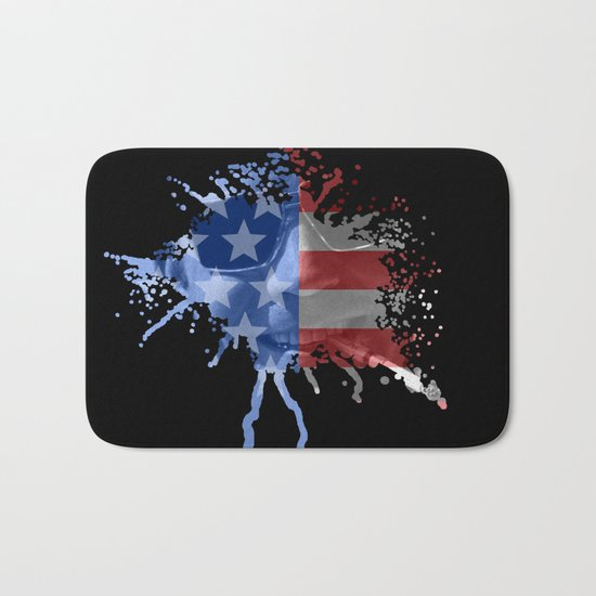 Hunter S. Thompson  |  Red, White & Blue  |  Blood Spatter Bath Mat
