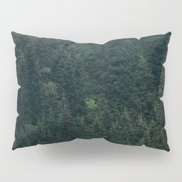 Mystic Pines - A Forest in the Fog Pillow Sham